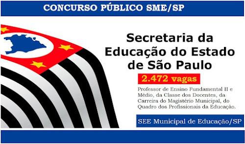 Prefeitura de SP anuncia concurso público para 2,5 mil vagas de professores