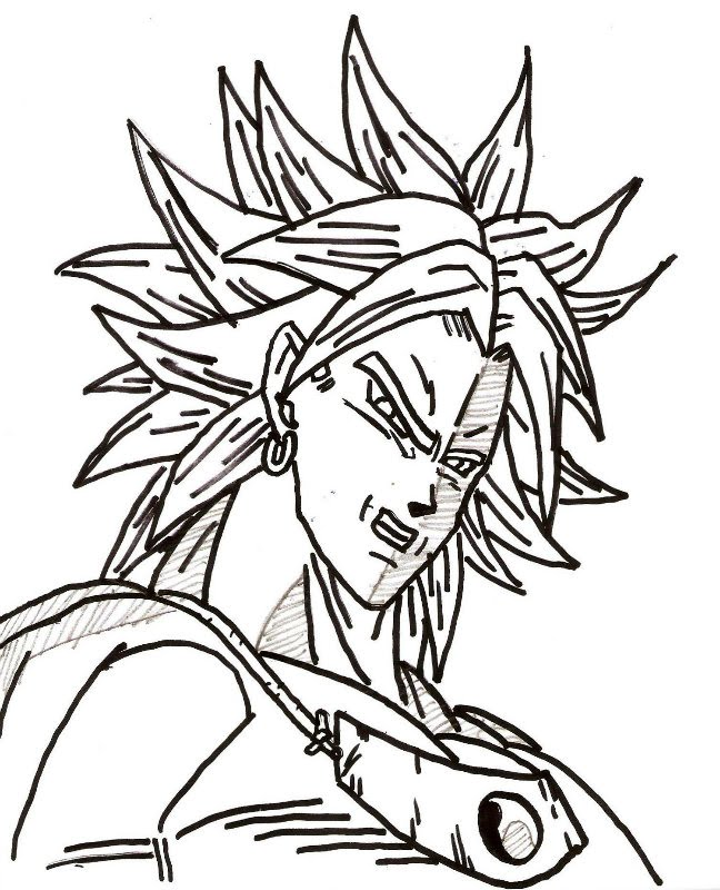 desenho joão paulo assis broly super sayajin dragon ball filme
