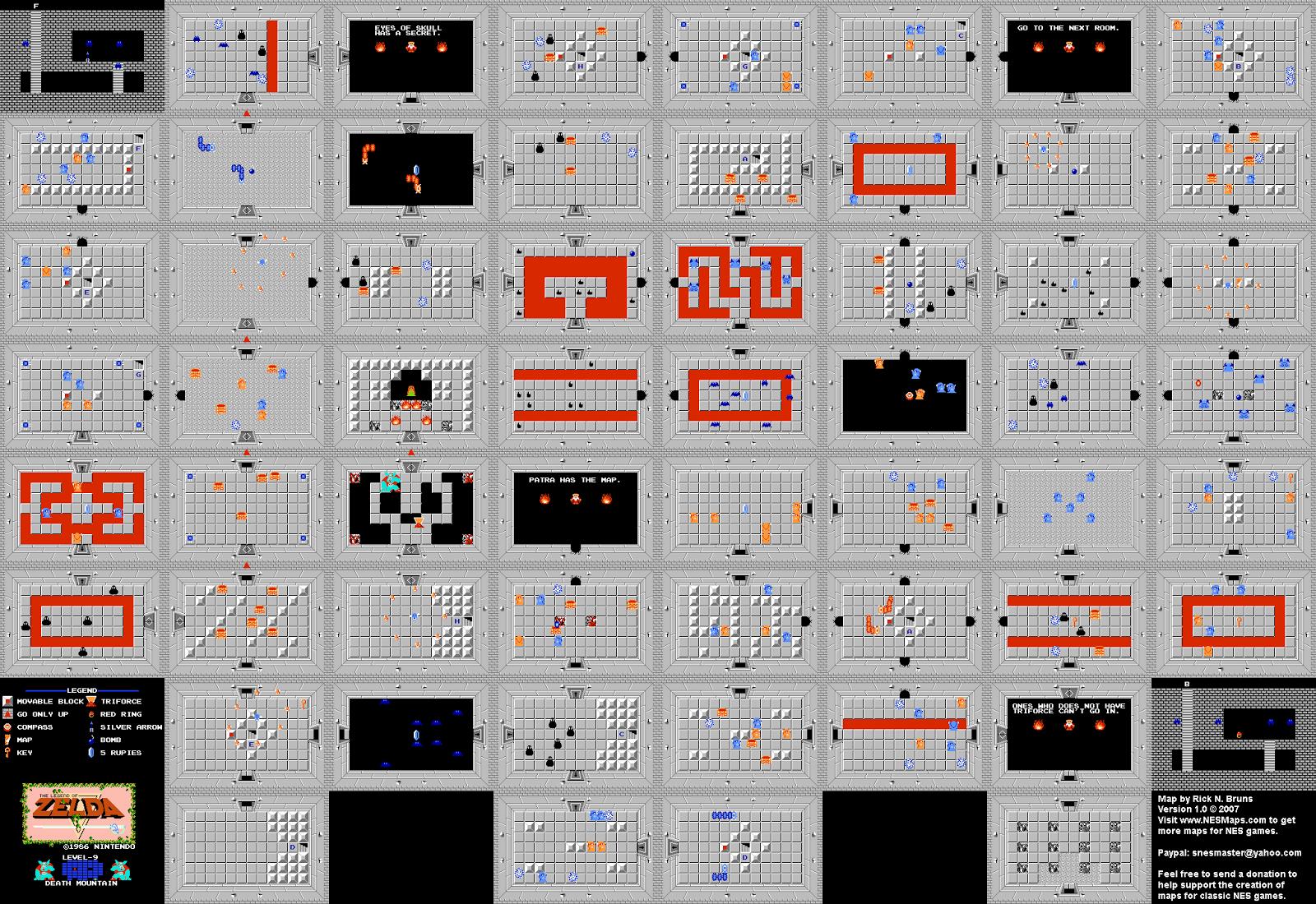Nintendo - Cartes (map) et Guide Officiel: LEGEND OF ZELDA