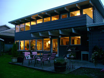 Back of the house at dusk