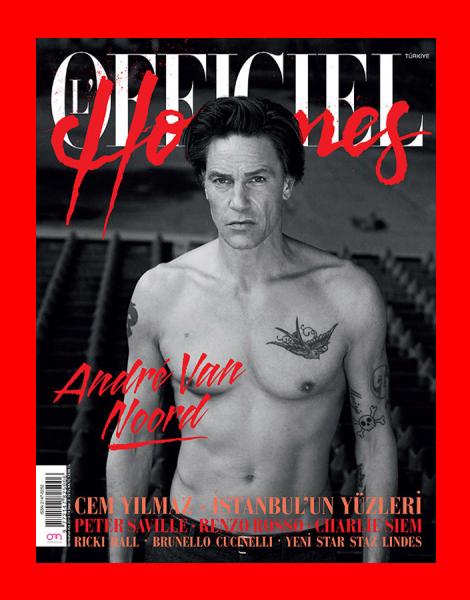 Andre Van Noord covers L'Officiel Hommes Turkey
