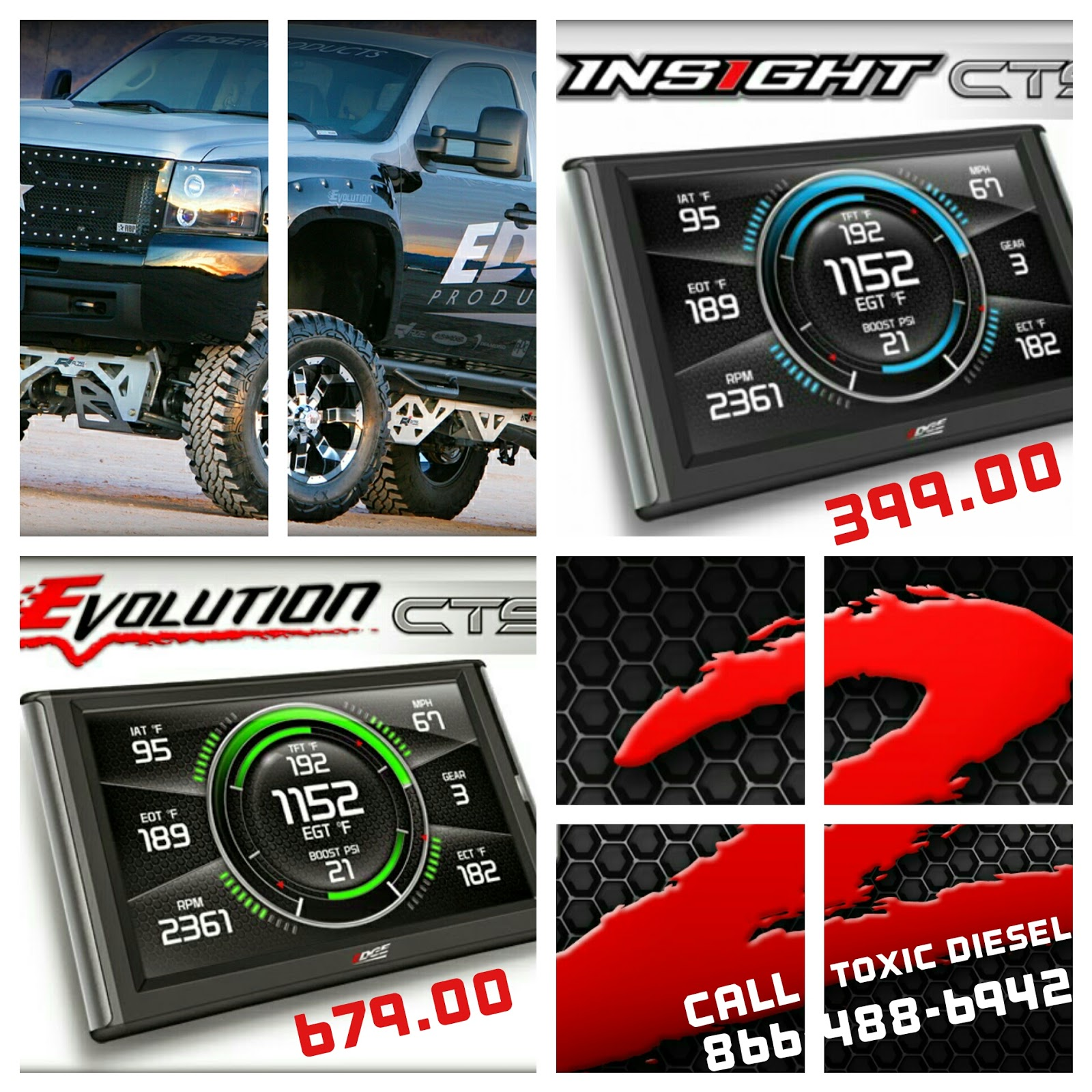 Toxic Diesel Performance NEW Edge Products Master Screen CTS2