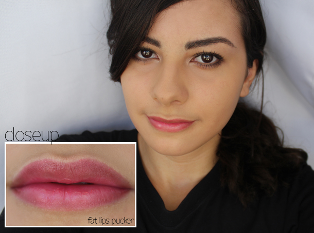 look beauty fat lips pucker review swatch