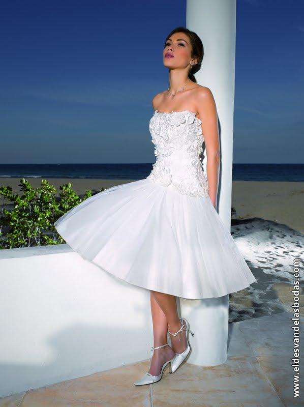 Modelos de vestidos de novia para la playa