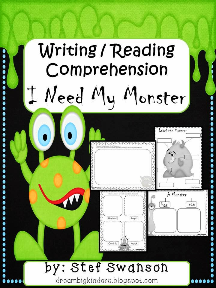 http://www.teacherspayteachers.com/Product/I-Need-My-Monster-WritingReading-Comprehension-280630