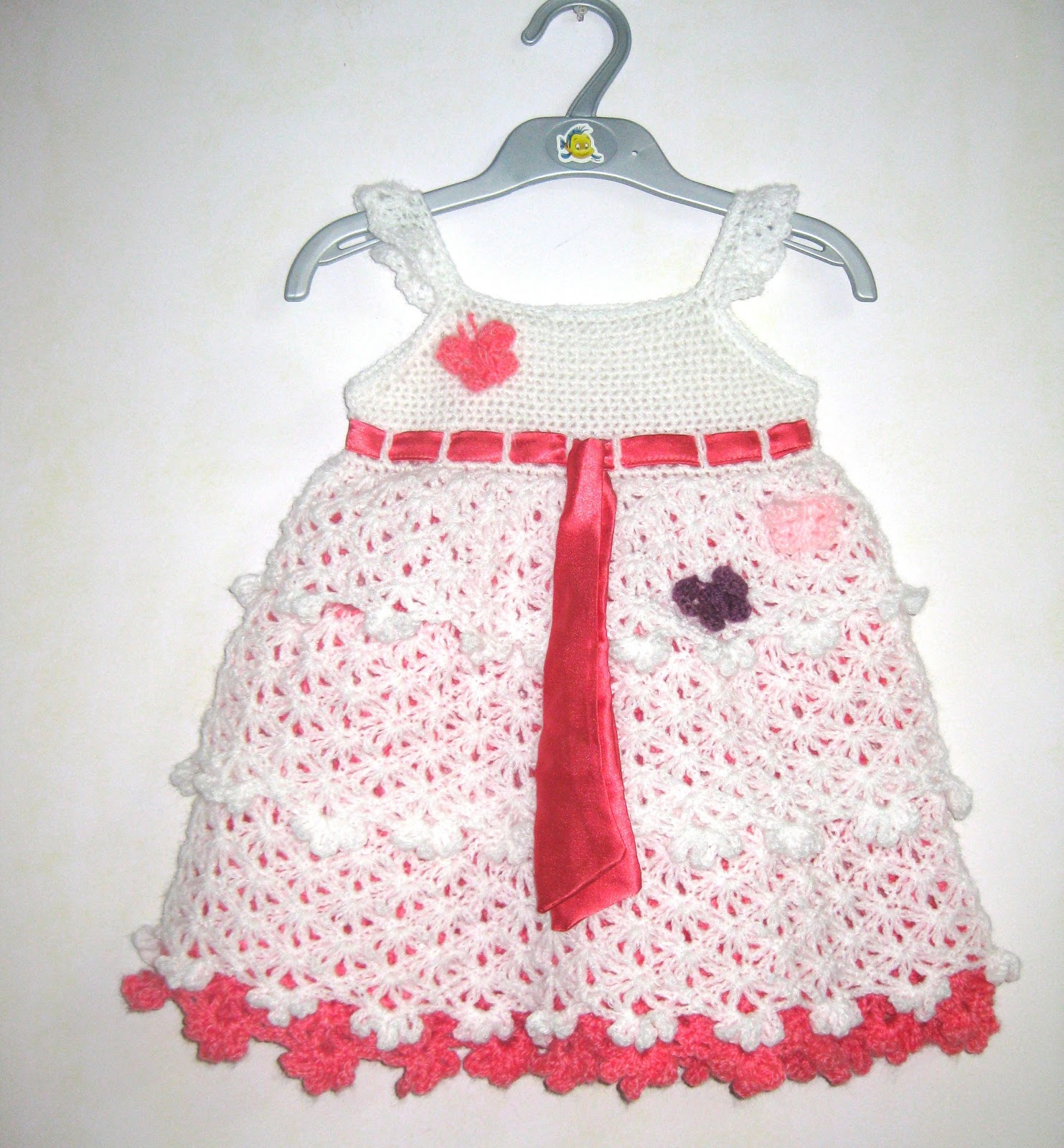 Wel e Winter Crocheted Baby Dress Savannah Belle
