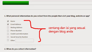 cara membuat privacy policy disclaimer