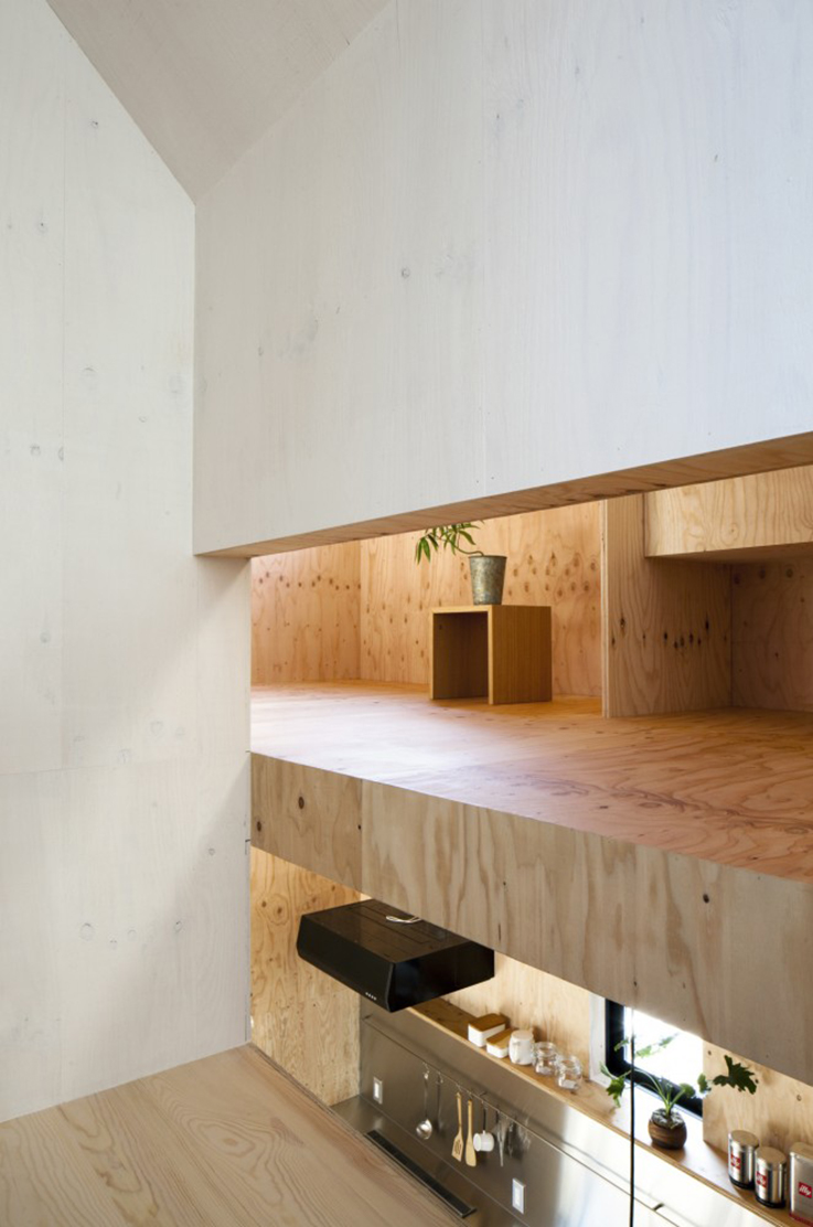 minimal house interior with wood surfaces