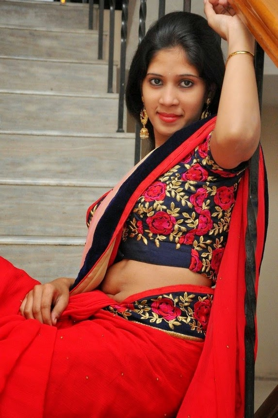 actress om sizzling photos in saree-HQ-Photo-8