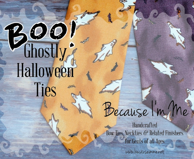 Halloween ghost neckties for men and kids at Because I'm Me