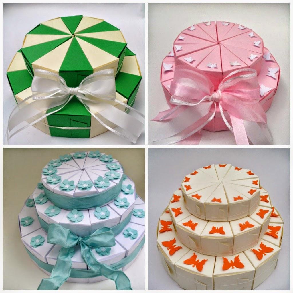 lembrancinhas em forma de fatia de bolo