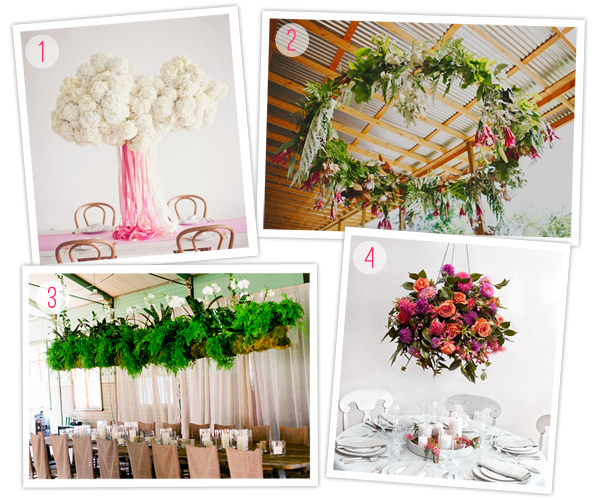 Hanging floral arrangement decor chandeliers wedding trend inspiration 2013 houston wedding planners