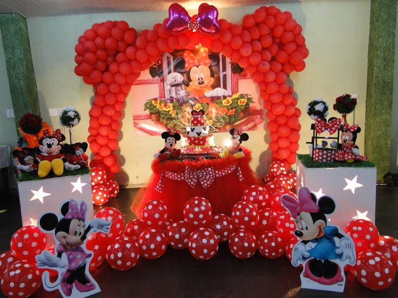 Mesa Decorada Minnie Mouse   Graffiti Graffiti