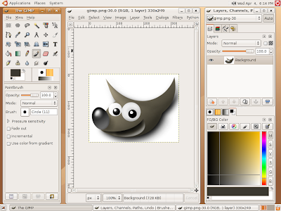 GIMP image editor version 2.8