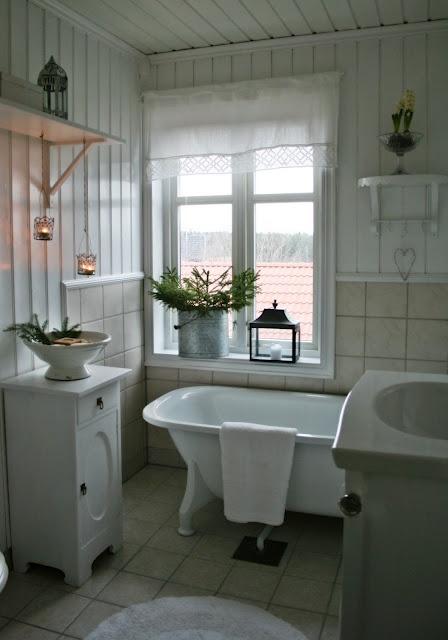 Baños Blanco Quintas:Cuartos de baño vintage: blanco