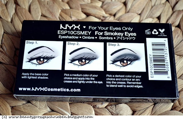 glamour toujours nyx palette for smokey eyes. Black Bedroom Furniture Sets. Home Design Ideas