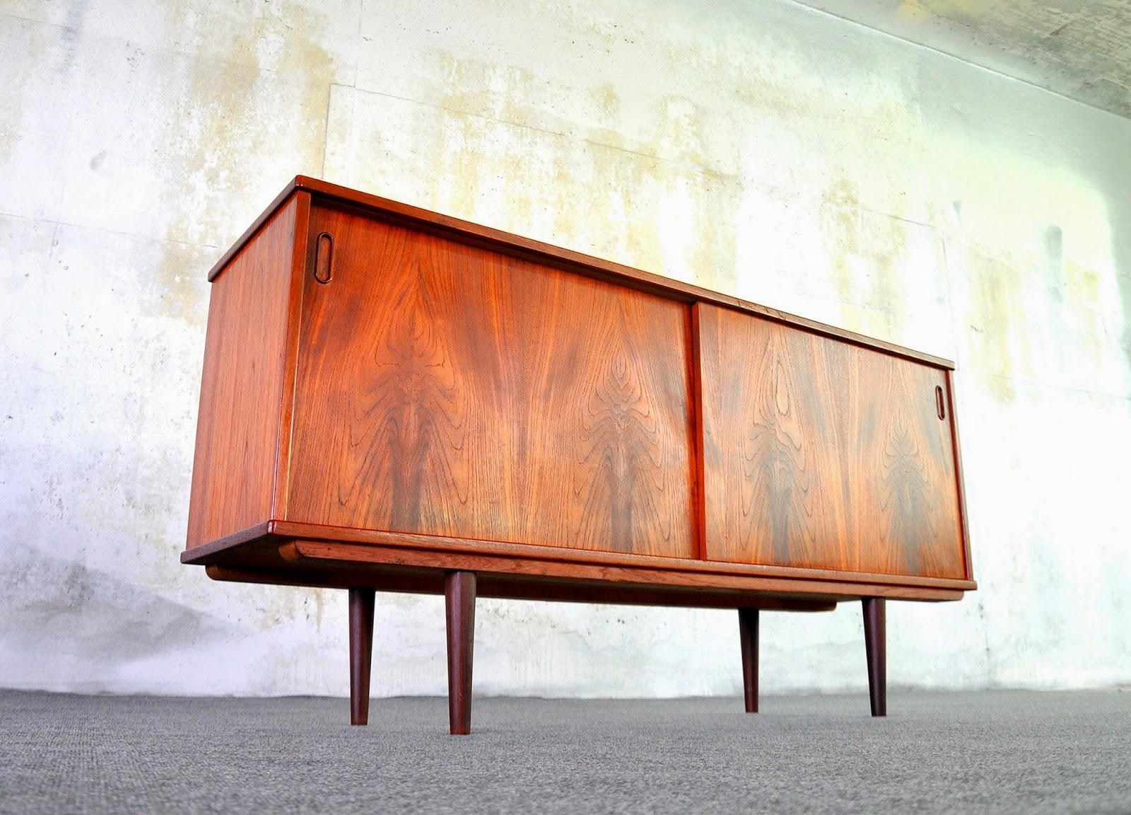 Credenza Danish Modern : Select modern danish teak credenza buffet sideboard or bar