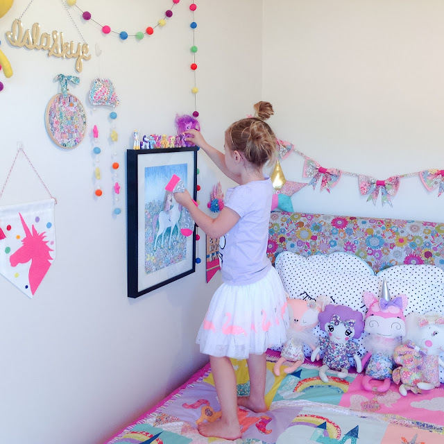 Rainbow bedroom girls decor