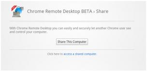 Share PC remote desktop using chrome