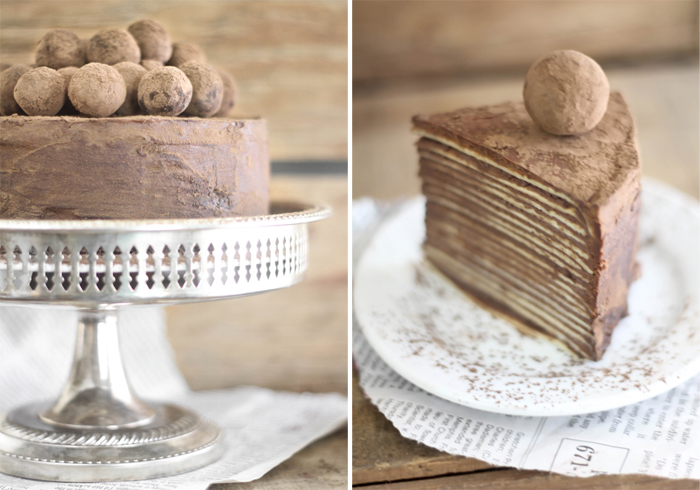 Chocolate Amaretto Mousse Cake Recipe