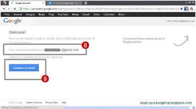 Hampir selesai, proses membuat alamat email Gmail baru.