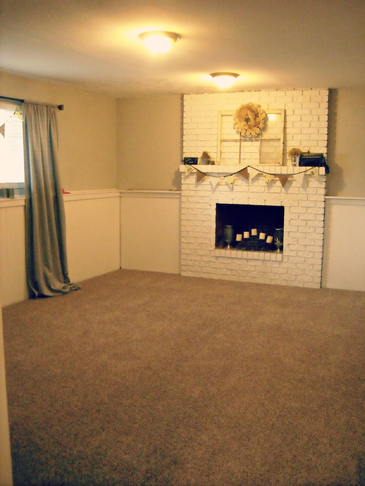 Keep home simple basement family room part ii for Best carpet for basement family room