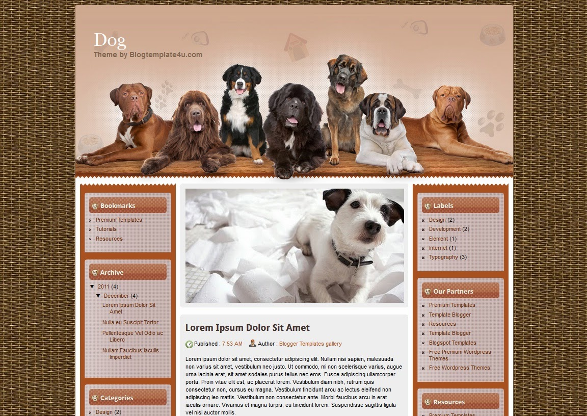 Dog Website Templates - All Templates