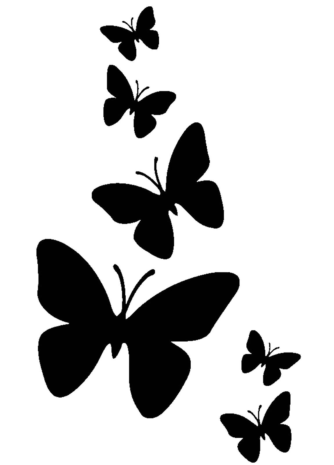 Dorable Plantilla De Mariposa Gratis Composición - Colección De ...