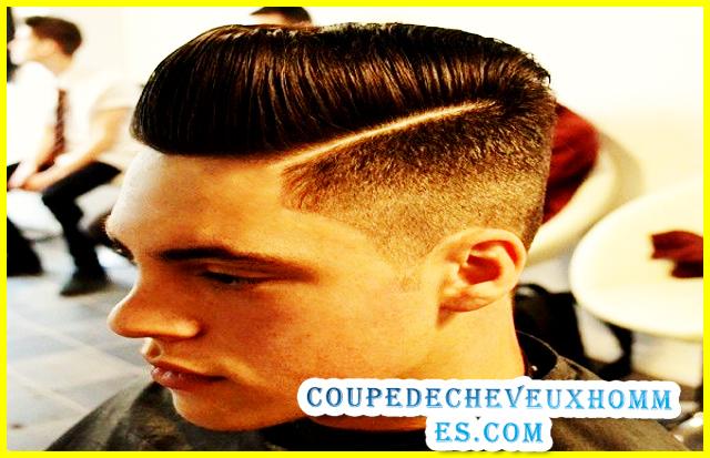 Coupe de cheveux avec trait homme