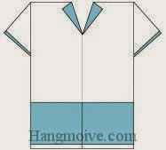 Bước 13: Hoàn thành cách xếp quần áo cầu thủ bằng giấy theo phong cách origami.