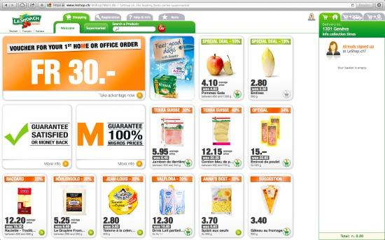 Migros online shop