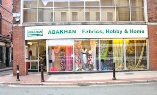 Abakhan fabric shop in Manchester city centre