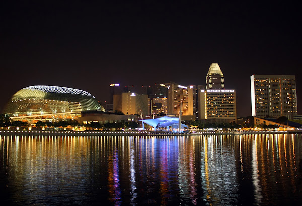 marina one bay at night