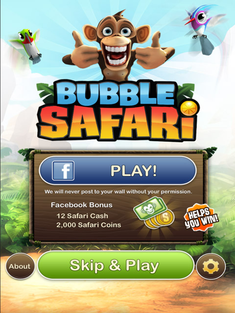 Bubble Safari Free App Game By Zynga