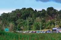 Traffic jam in Lumut brunei