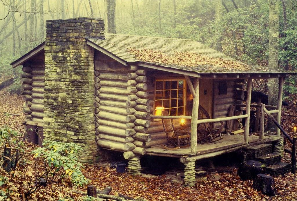 cabane en bois dans la foret. Black Bedroom Furniture Sets. Home Design Ideas