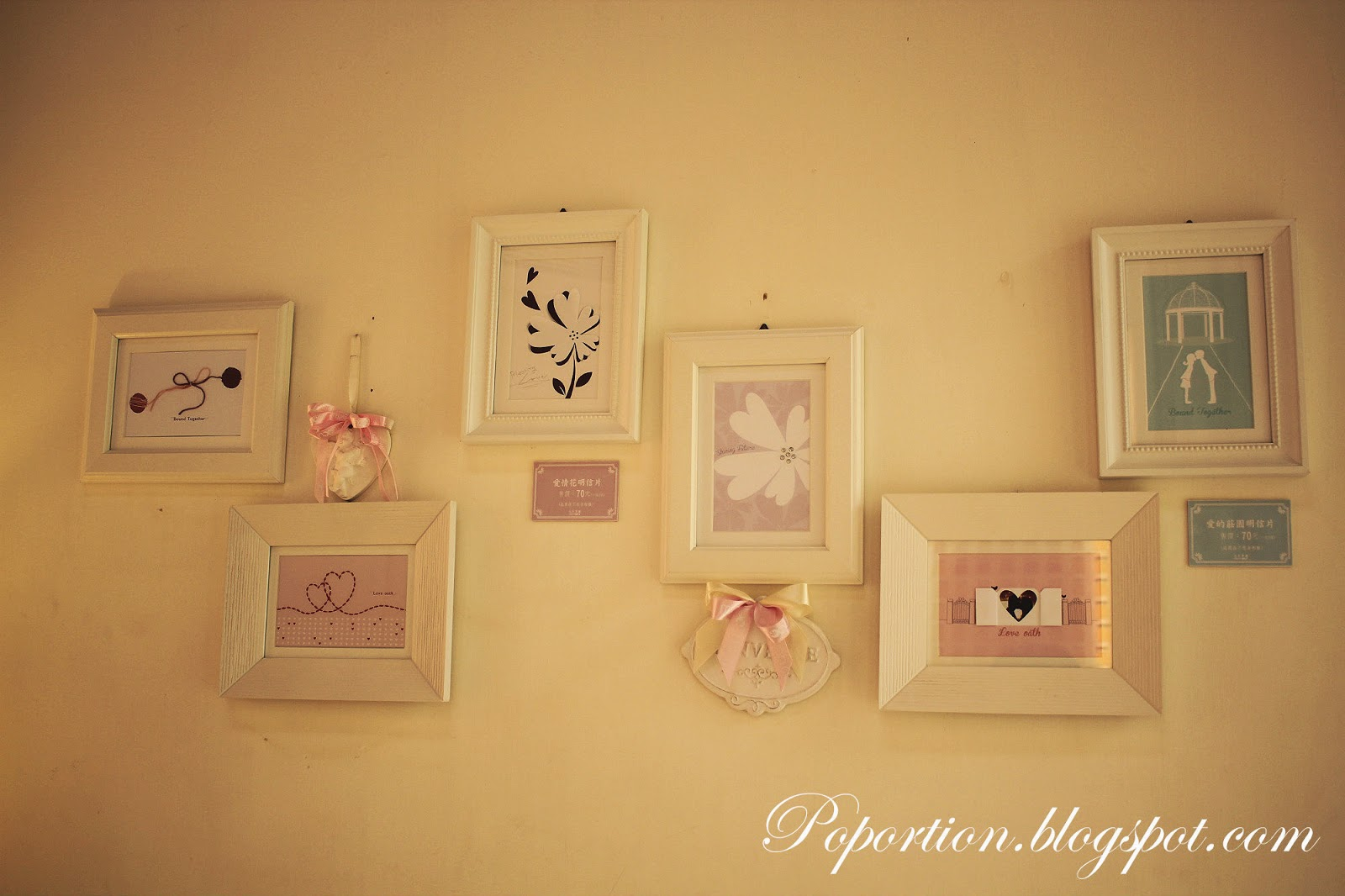 photo frames on white wall