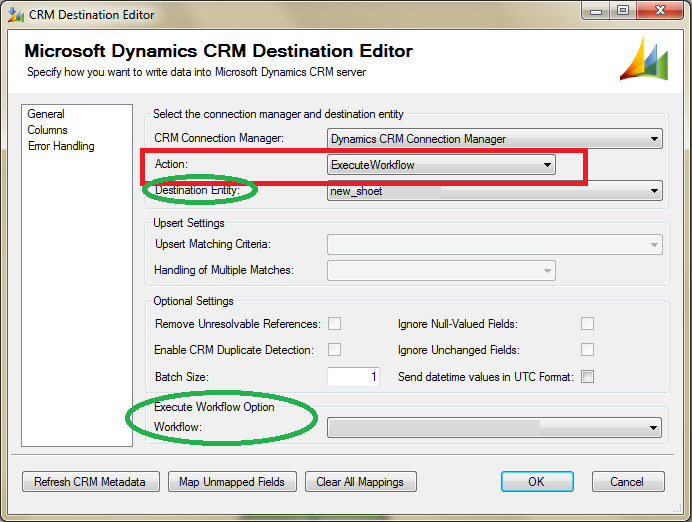 CRM Workflow from SSIS