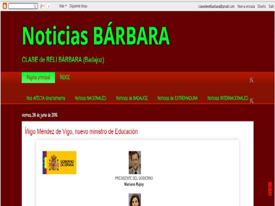 Noticias Bárbara