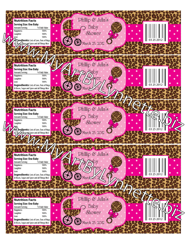 Cheetah Print Baby Shower Theme http://lynnetteart.blogspot.com/2012/01/sweet-leopard-baby-shower-invitation.html