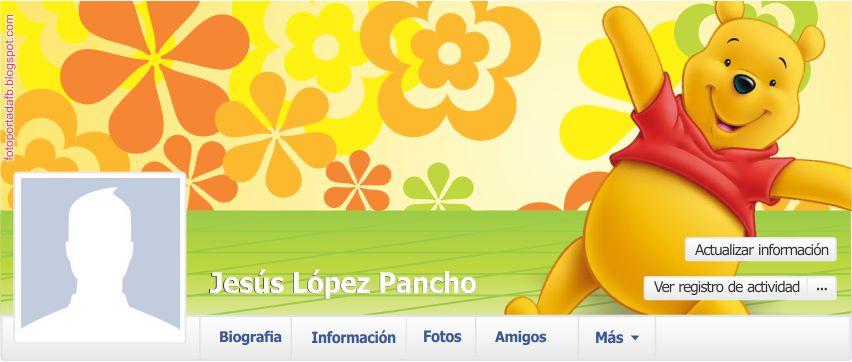 Ejemplo de portada de facebook con el tema de winnie pooh