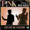 Pink unveils 'Just Give Me A Reason' single cover, Nate Ruess is on it too