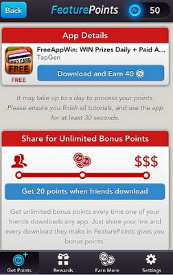 how to get free points on free my apps