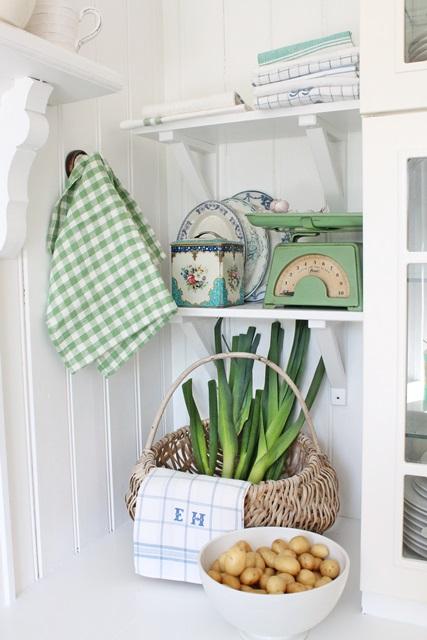 Grønt og blått hjørne av kjøkkenet her, et hjørne som gjør meg ...