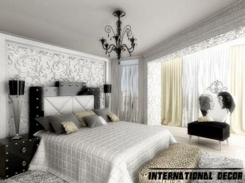 black and white bedroom, Trendy glamorous bedroom design ideas