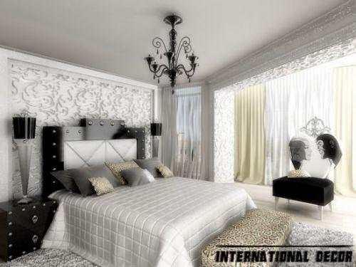 black and white bedroom trendy glamorous bedroom design ideas