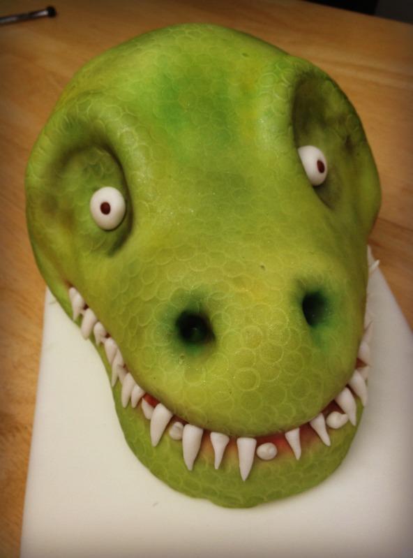 The Crafty Conundrum SYTYC TRex Cake Tutorial