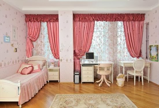 Pink Childrens Bedroom Curtains 2014