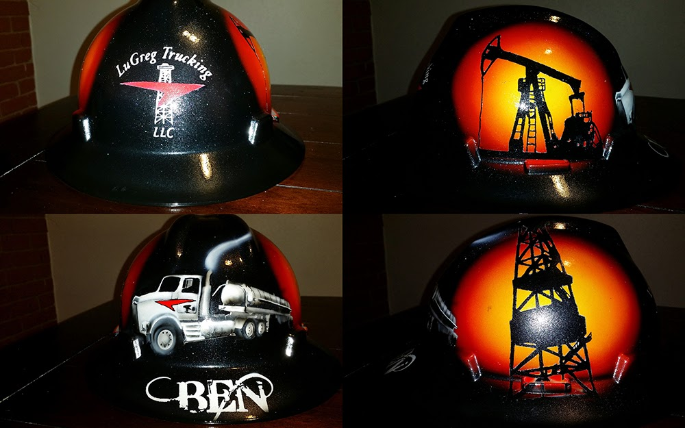 cool trucking hard hat