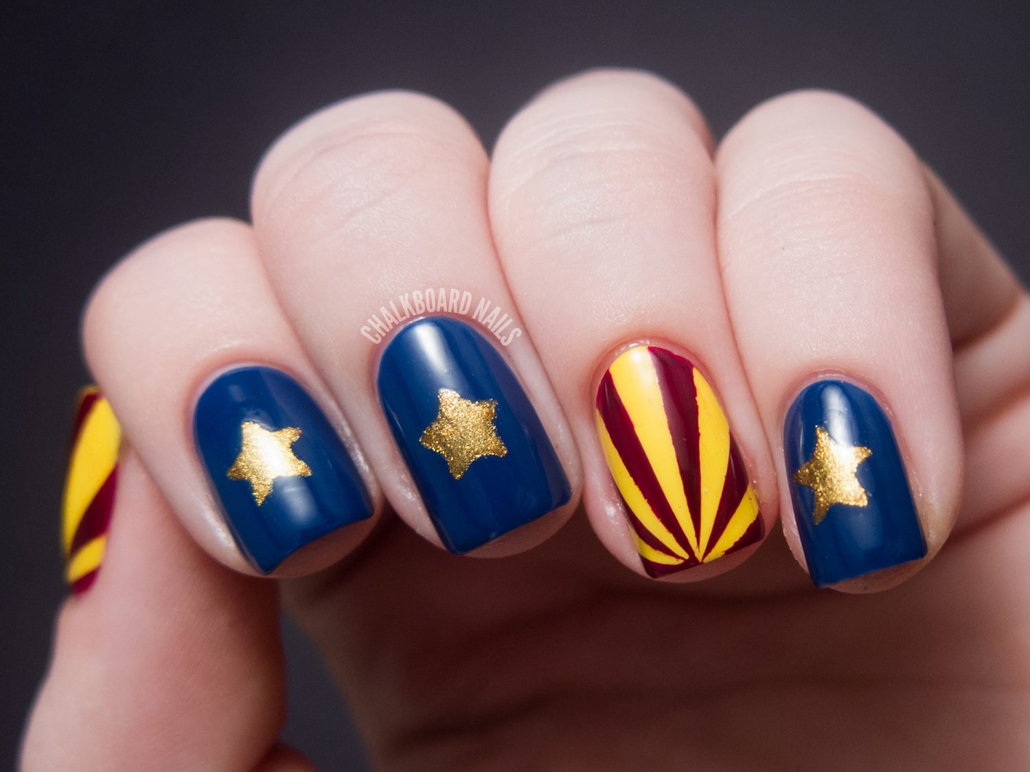 31DC2012: Day 28, Inspired by a Flag   Chalkboard Nails   Nail Art Blog